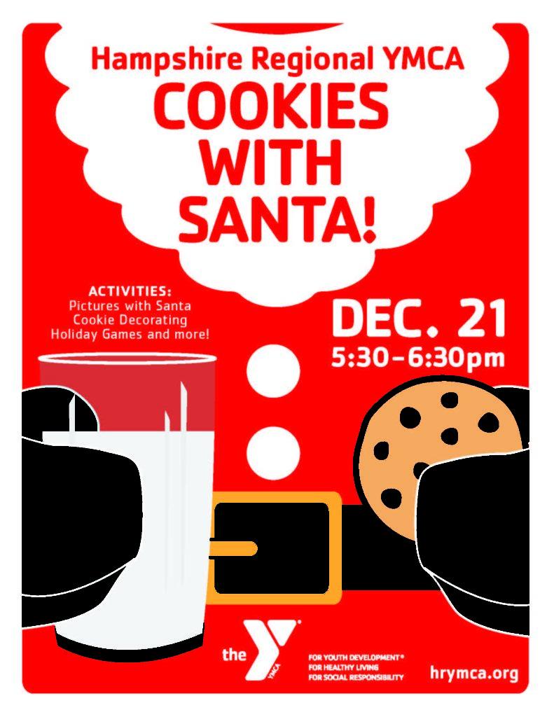 Family Fun Friday Cookies With Santa Hampshire Regional Ymca